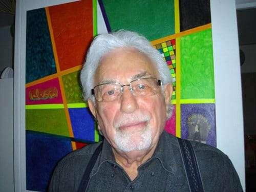 Shlomo Graber vor einem seiner Gemälde (c) Christian Dueblin