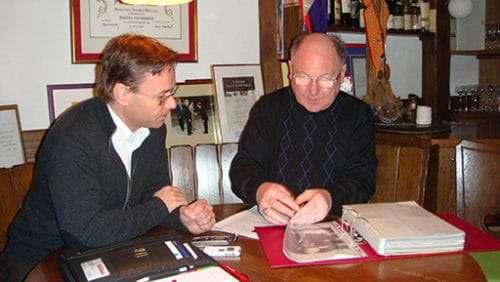 Maitre Antony und Christian Dueblin im Gespräch