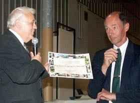 Dr. Jean-Paul Aeschlimann bei der Übergabe des Prix de Patrimoine de Montpellier, 2009 (c) Dr. Jean-Paul Aeschlimann