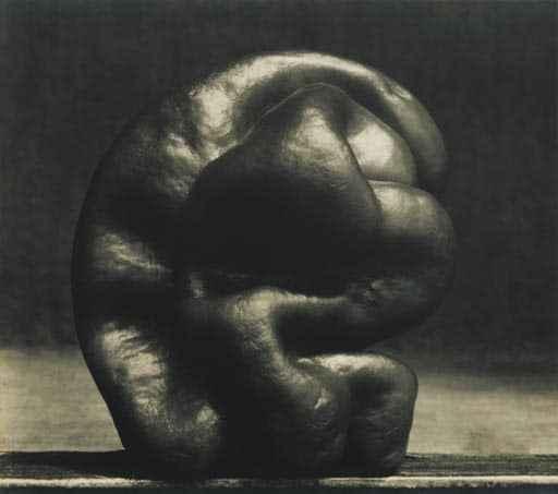 """Edward Weston, """"Pepper"""", 1929, Vintage gelatin silver print (c) Galerie zur Stockeregg, Zürich, Kaspar M. Fleischmann"""