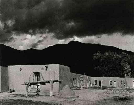 """Paul Strand: """"Black mountain"""", Cerro, New Mexico, 1932, Vintage gelatin silver print (c) Galerie zur Stockeregg, Zürich, Kaspar M. Fleischmann"""