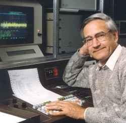 Prof. Dr. Richard R. Ernst am Spektrometer, 1991. (c) Richard R. Ernst