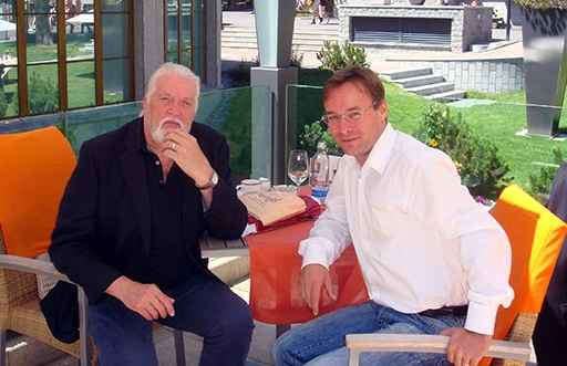 Jon Lord and Christian Dueblin in Zermatt, Switzerland
