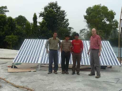 Solaranlage des Spitals in Katmandu (c) Ruth Gonseth