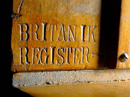 Die Britannic-Orgel, Nahaufnahme
