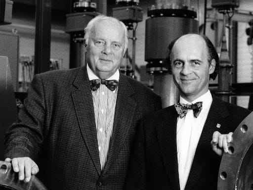 Klaus Endress mit seinem Vater Georg H. Endress (c) Klaus Endress