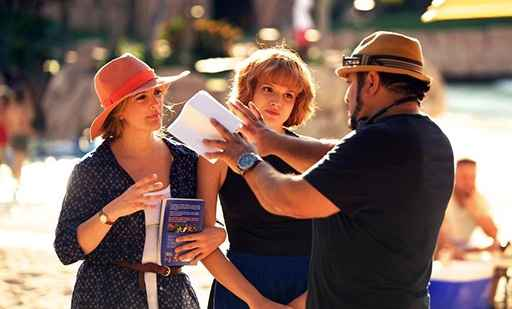 Frank Coraci Drew Barrymore & Bella Thorne on the set