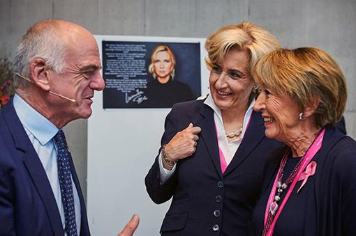 David Nabarro, former long-time WHO and UN advisor to Kofi Annan and Ban Ki-moon with Beatrice Tschanz, former Swissair Group top manager and Breast Cancer Activist