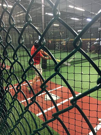 Baseball: batting the cage