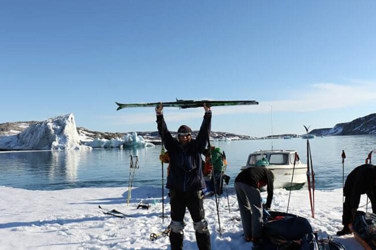 Robby Clemens - Extremläufer & Motivationscoach: Nicht nur zu Fuß, auch mal auf Skiern unterwegs