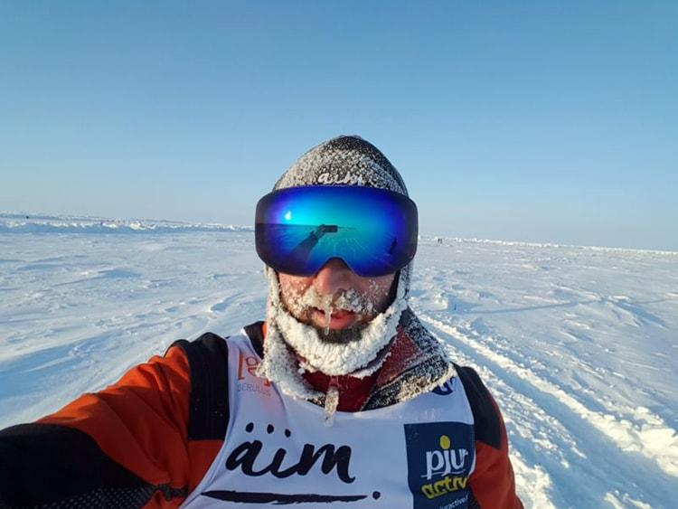Robby Clemens: Zu Fuß bei arktischen Temperaturen am Nordpol
