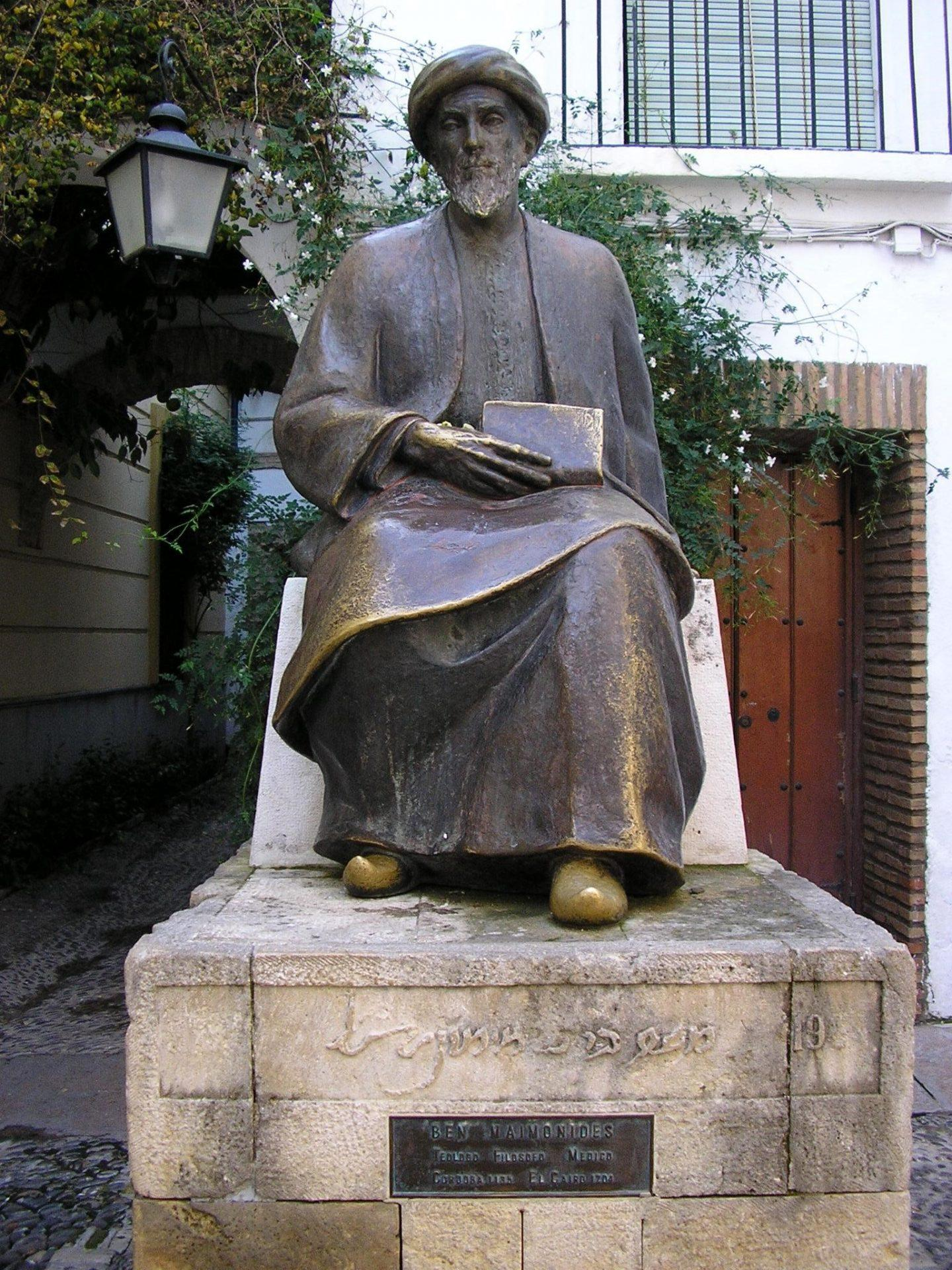 Philosoph Maimónides -Statue in Córdoba